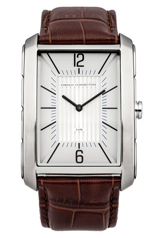 Crocodile Leather Square Watch