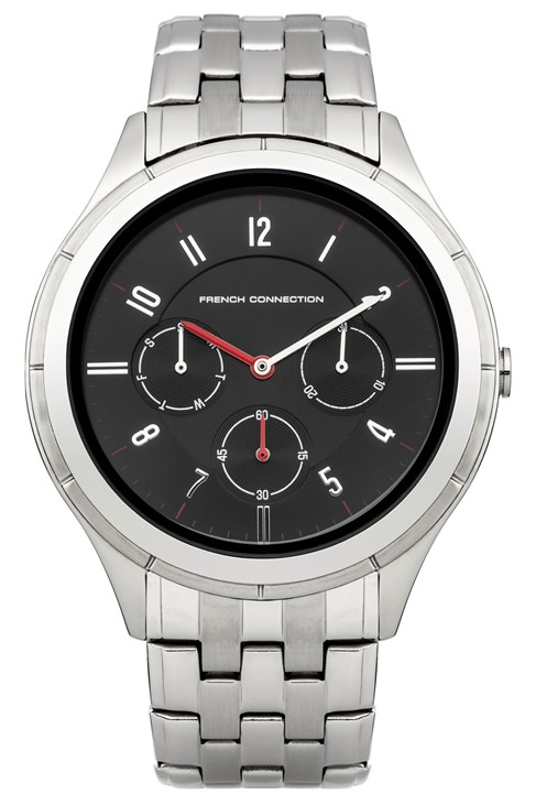 Silver And Black Bracelet Watch