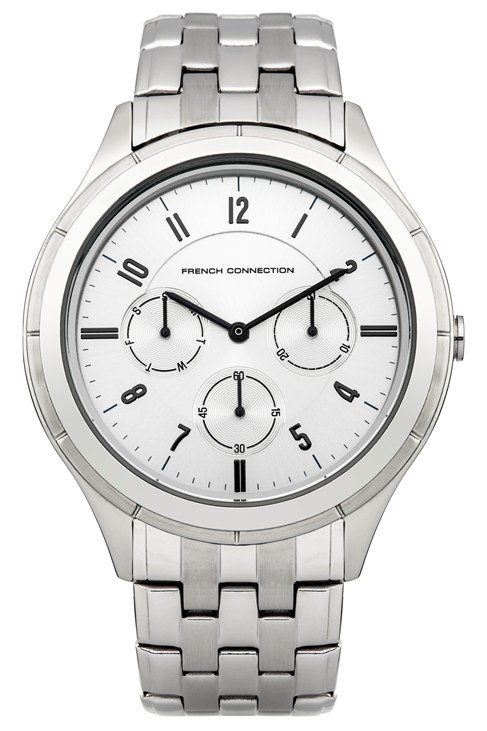 Silver And White Bracelet Watch