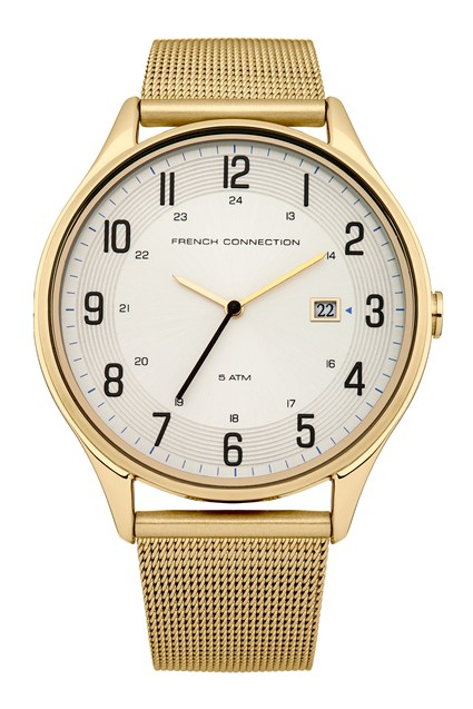 Gold Mesh Bracelet Watch