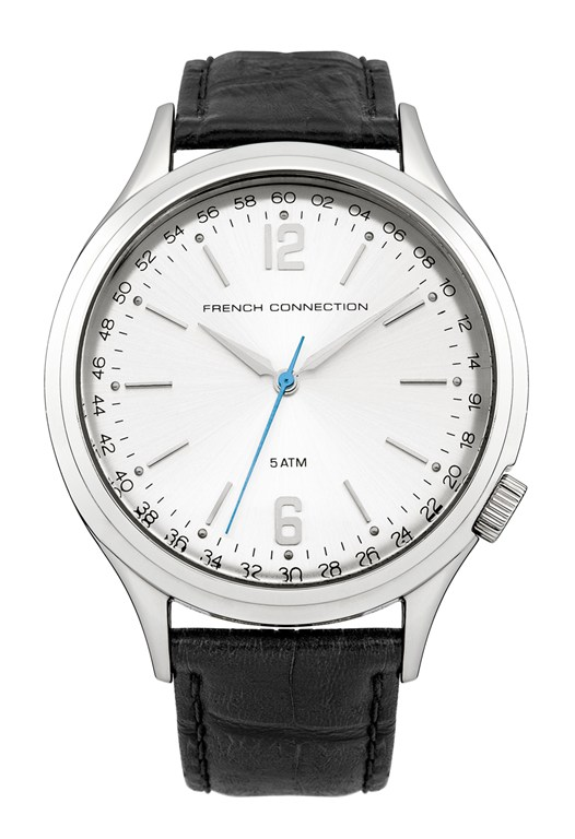 CROMWELL Number Dial Leather Strap Watch