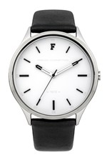Looks Great With KENSINGTON GRAND Monochrome Leather Strap Watch