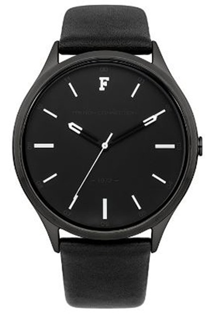 KENSINGTON GRAND Black Leather Strap Watch