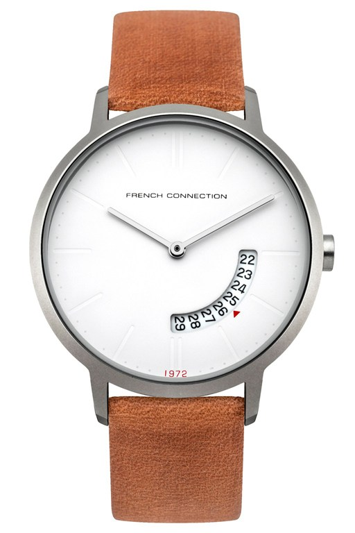 Complete the Look 39MM Brown Leather Strap Watch