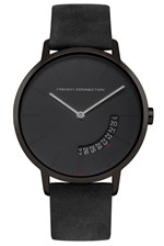 Looks Great With 39MM Black Leather Strap Watch