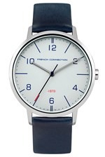 Looks Great With 39MM Blue Leather Strap Watch