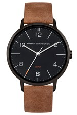Looks Great With 39MM Tan Leather Strap Watch