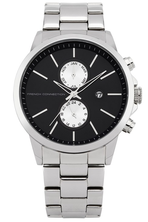 Polished Steel Round Watch