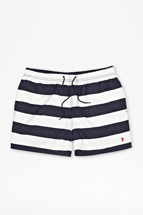 Caleb Bold Stripe Swim Shorts