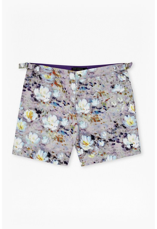 Tailored Photo Print Swim Shorts