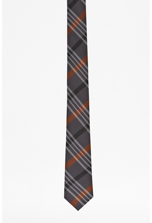 James Check Striped Tie