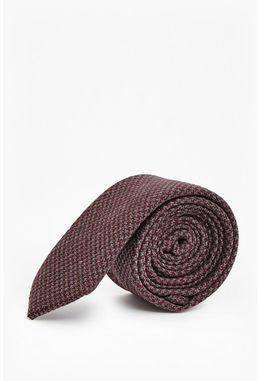 Lawson Dogtooth Wool Mix Tie