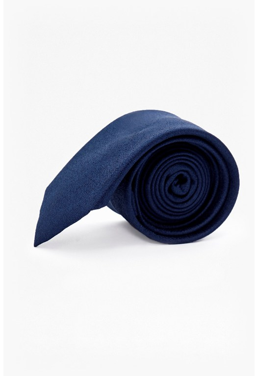 MB Navy Textured Silk Tie
