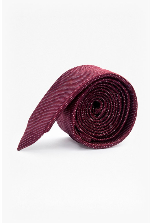 MB Wine Mini Spot Silk Tie