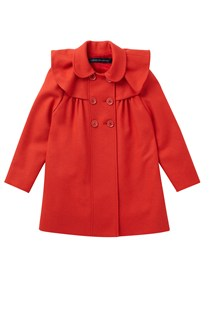 Wool Wonderland Frill Detail Coat