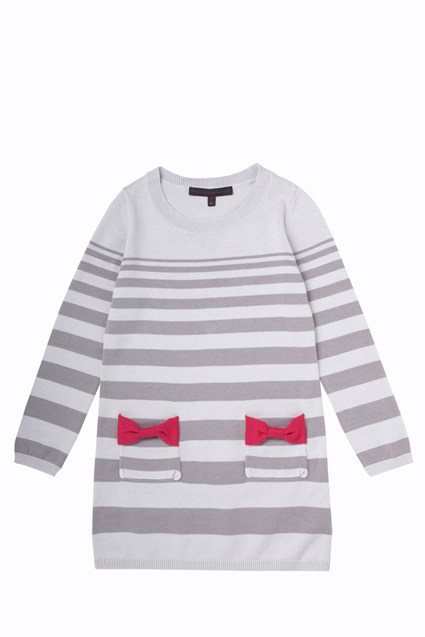 Bow Stripe Dress