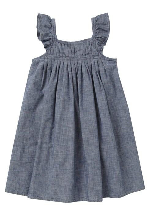 Chambray Yoke Detail Dress