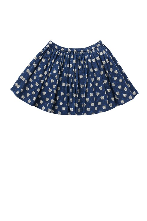 Lady Bug Sateen Gathered Skirt