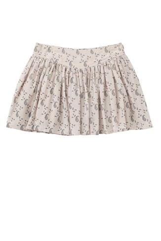 Pretty Paisley Gathered Skirt