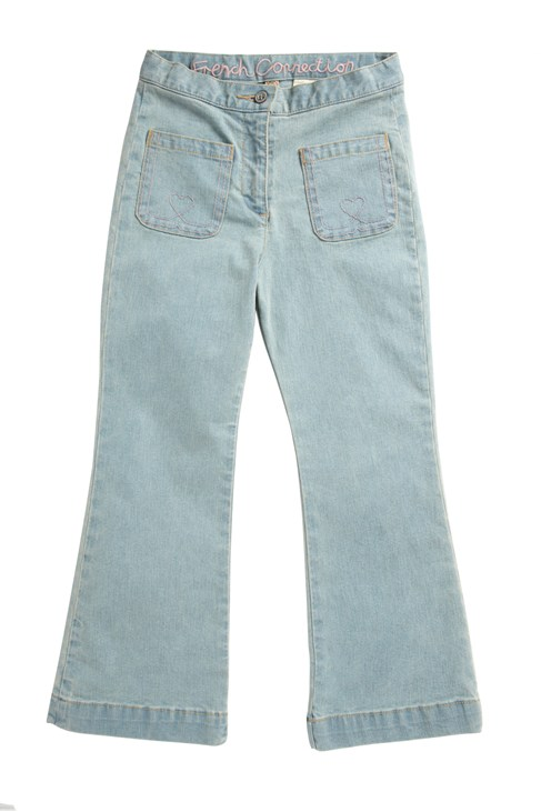 Flare Leg Denim Jeans Blue