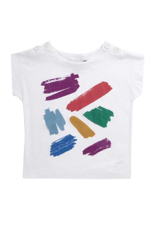 French Connection Painters Tee Button Neck Tee