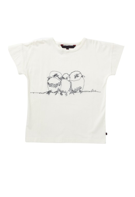 Three Little Birds Roll Sleeve Tee