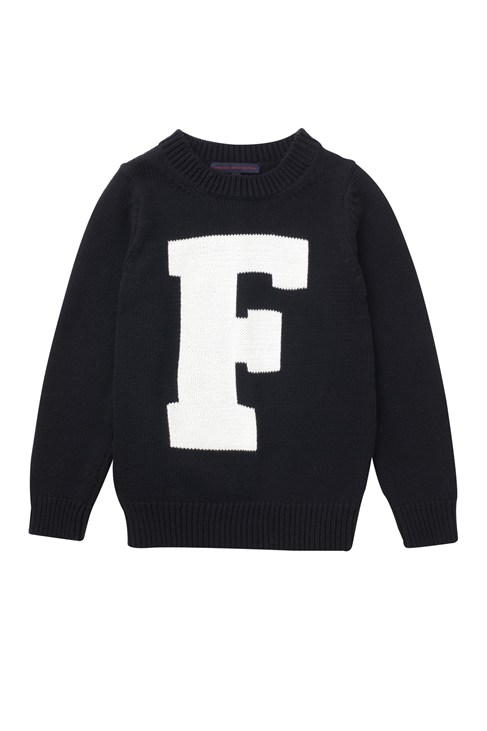 Typo Cotton Crew Neck Jumper