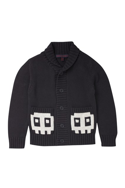 Robo Knit Boys Shawl Collar Cardi