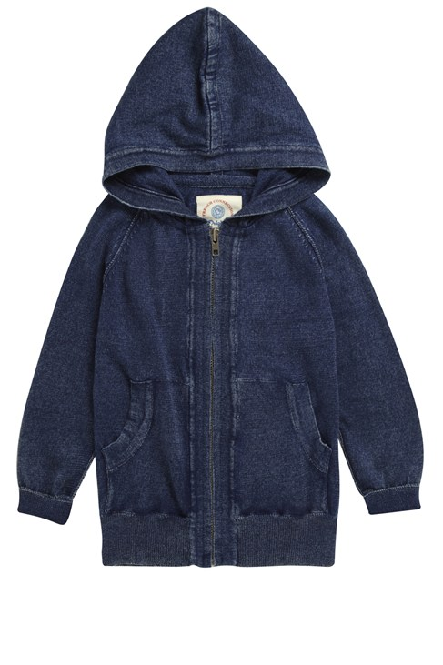 Flint Indigo Zip Thru Hoody