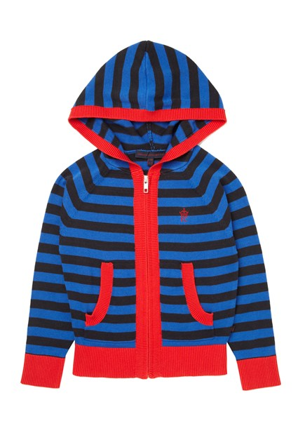 Ernie Cotton Stripe Zip Hoody