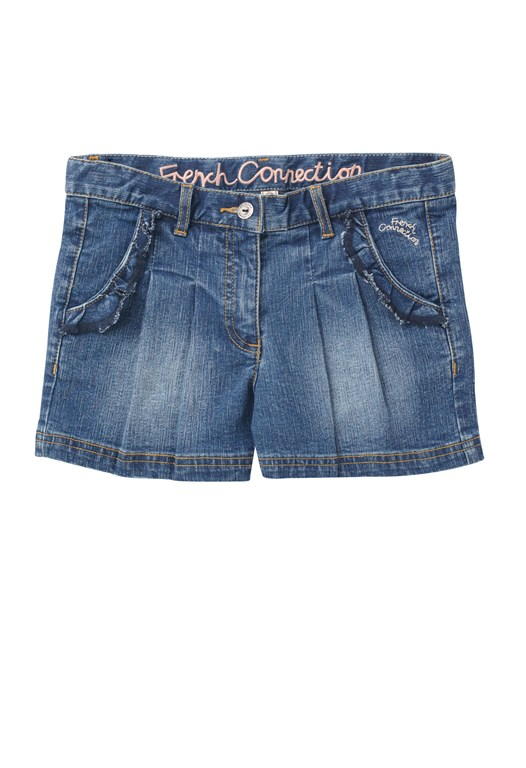Diva Denim Pleats Shorts