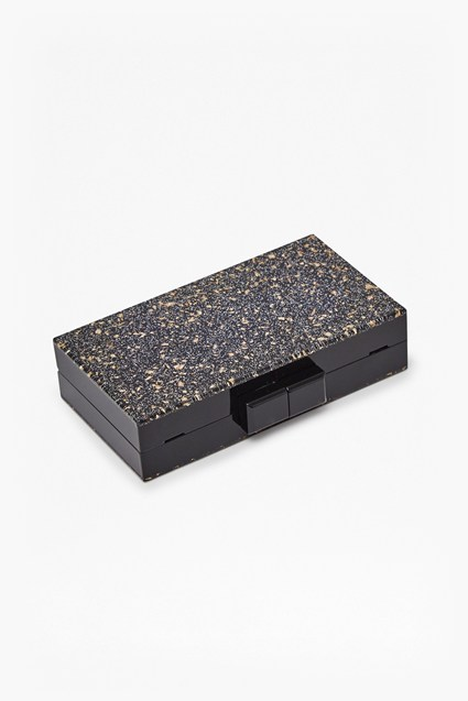 Ezra Resin Glitter Box Clutch