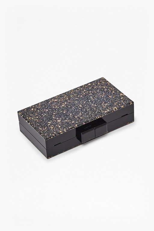 Complete the Look Ezra Resin Glitter Box Clutch