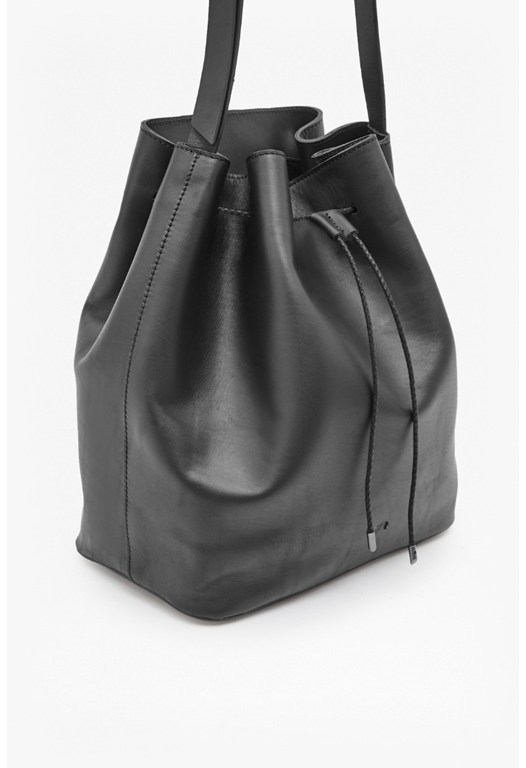 Sally Leather Bucket Bag