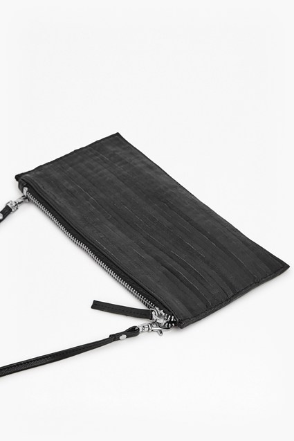 Flo Folded Leather Cross Body Clutch