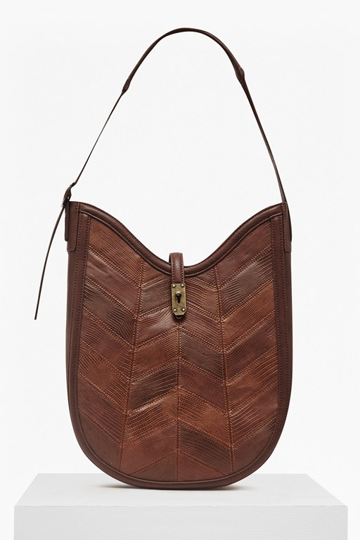 Complete the Look Patchwork Pearle Hobo Bag