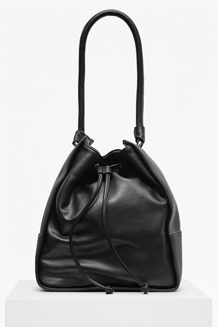 Stabstitch Faux Leather Hobo Bag