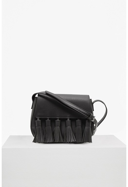 Multi Tassel PU Brea Saddle Bag