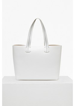 Stabstitch Faux Leather Tote Bag