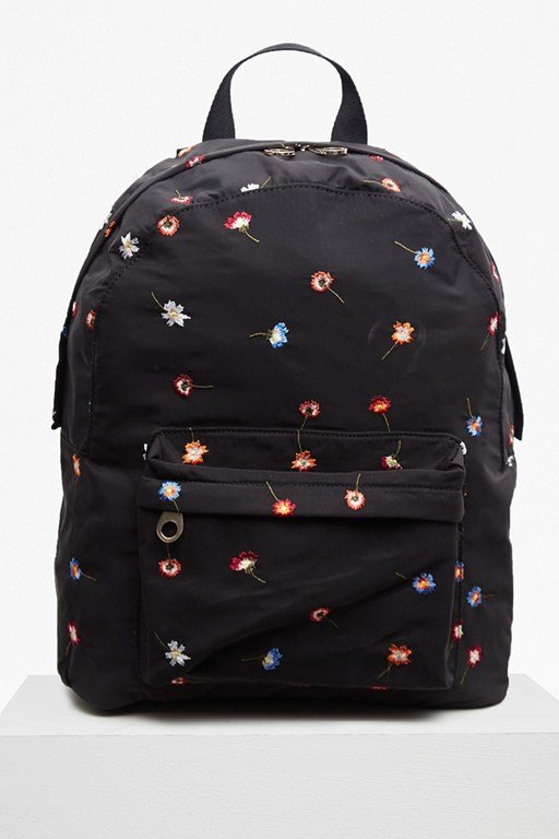 naomi flower embroidered backpack