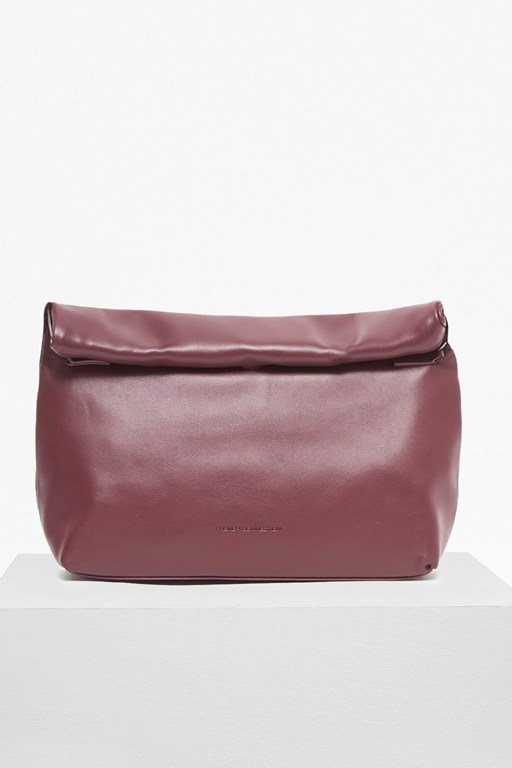 soft roll top shoulder bag