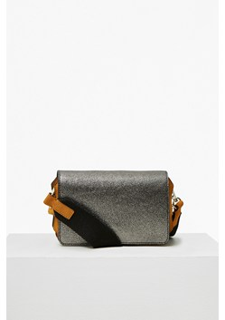 Colour Block Metallic Leather Cross Body Bag