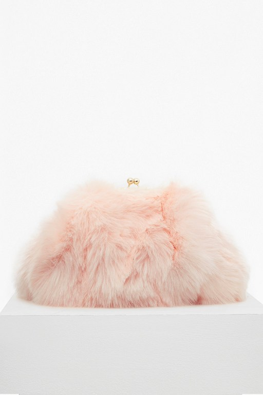 fisola fur clutch bag