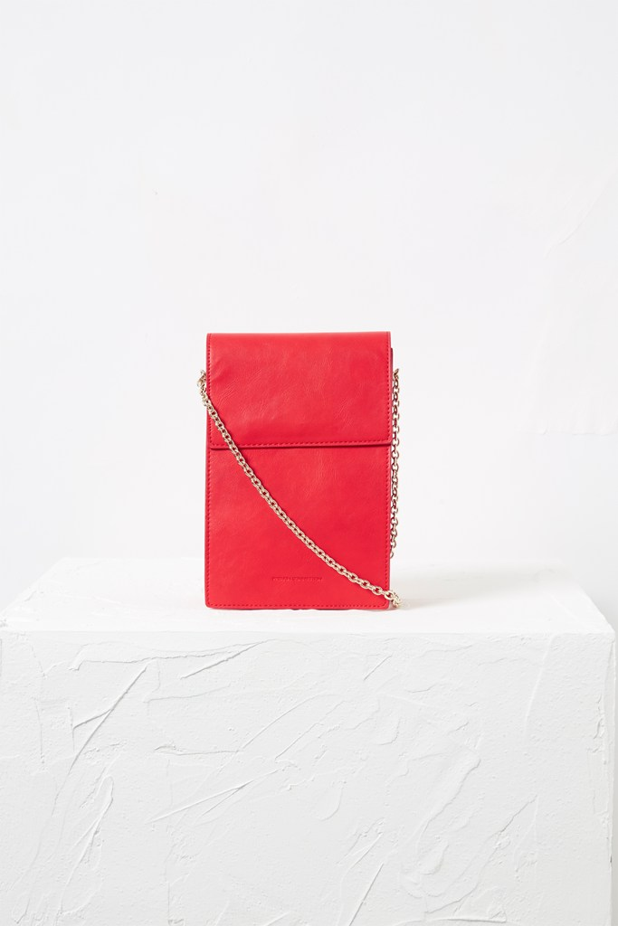 Betty Rectangle Cross Body Bag - shanghai red/gold