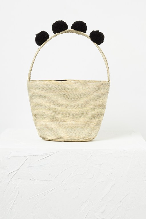 alani palm leaf basket bag