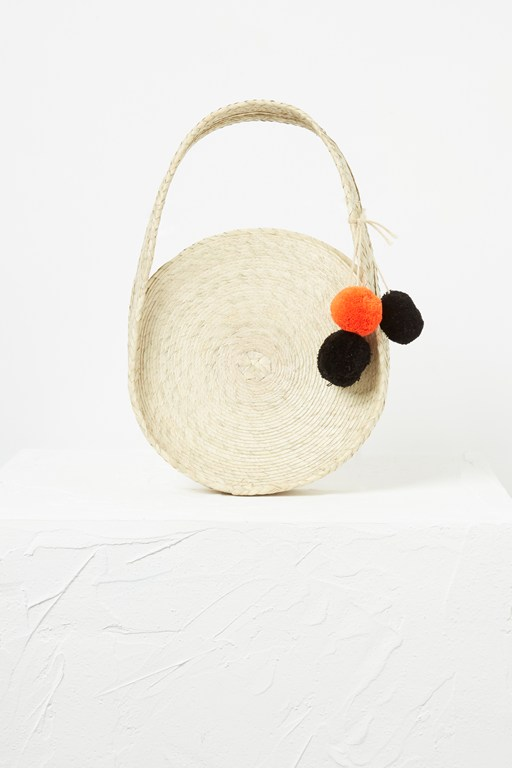 Complete the Look Kai Mini Palm Leaf Circle Bag