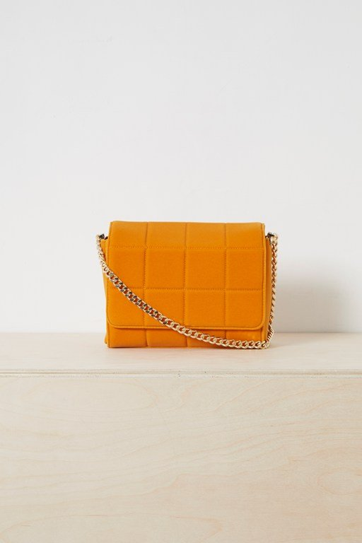 Complete the Look Rafa Quilted Velvet Cross Body Bag
