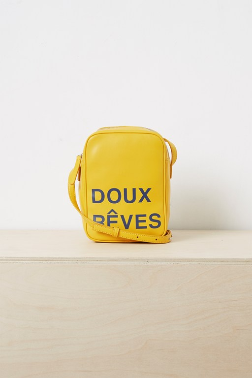 french slogan camera bag
