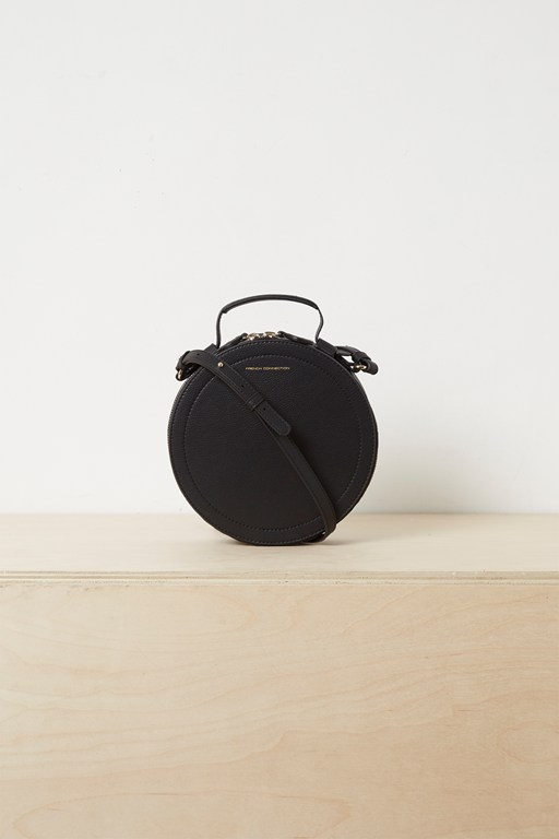 trace recycled leather crossbody bag