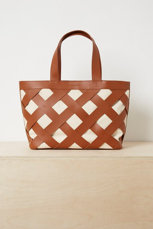 Complete the Look Troy Recycled Leather Canvas Bag